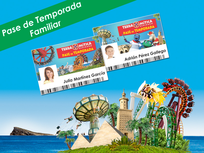 Pase Temporada Terra Mítica familiar 2019