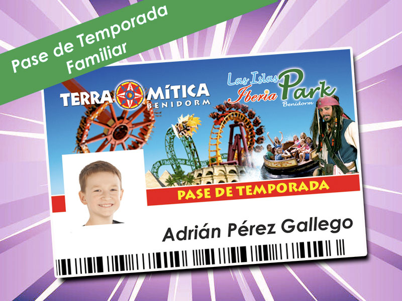 Pase Temporada Terra Mítica Plus familiar 2019